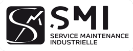 smi - service maintenance industrielle - logo negatif regular